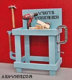 Toy Workbench - love this, I'm thinking it might be the perfect Christmas gift for my little boy
