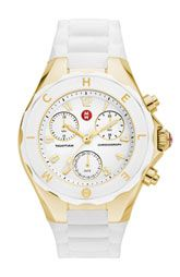 MICHELE 'Tahitian Jelly Bean' 40mm Rose Gold Watch | Nordstrom
