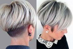 Women hairstyles bob curly hair platinum blonde hair brown eyes,waves hairstyles elegant funky hairstyles punk,funky hairstyles half up popular short hairstyles. Short Haircuts 2017, Short Hairstyles For Women, Hairstyles With Bangs, Cool Hairstyles, Hairstyles 2018, Short Grey Hair, Short Hair With Layers, Short Hair Cuts, Short Hair Styles