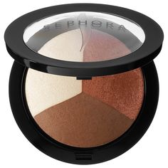 What it is:An exclusive, must-have trio featuring a luminizer, matte-satin blush, and bronzer to contour and highlight perfectly .  What it does: Only at Sephora—This three-in-one formula is made of ultra-light, micronized pigments that effort