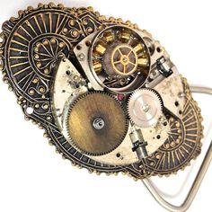 Steampunk Watch Parts Buckle & Belt Vintage Brass by BuckleTribe, $31.50