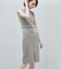 Mango Belted Cotton Dress