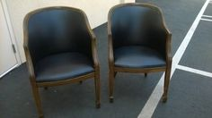 Pair of Vintage library Chairs $250