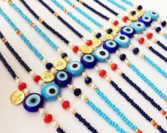 Gold and silver bracelets for women Cute Jewelry, Jewelry Gifts, Beaded Jewelry, Diy Jewelry, Jewelry Making, Fashion Jewelry, Evil Eye Jewelry, Evil Eye Bracelet, Seed Bead Bracelets