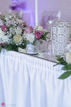 Focus on the florals and keep the linens minimal for a simple yet gorgeous event! Polyester is an efficient and economical choice for a table skirt. It can easily be used at weddings, birthdays, baby showers, or even your home! Made from 100% tough, durable, and low mantainence polyester. #pinkbirthdayparty #birthdaypartyideas #birthdaypartydecorations #babyshowergirldecoracion #babyshowerthemesgirl #babyshowerideas #girlbabyshower #babyshowerdecorations #pinkweddingflowers #pinkweddingtheme Birthday Party Decorations, Baby Shower Decorations, Wedding Decorations, Birthday Parties, Table Decorations, Table Set Up, A Table, Pink Wedding Theme, Wedding Flowers