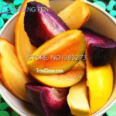 Sale 20/bag Rare Sapodilla Seeds Fruit Bonsai Edible Ornamental Tree Seed Muricatum Solanum Mango Shape Sementes Plants Garden Only US $0.63