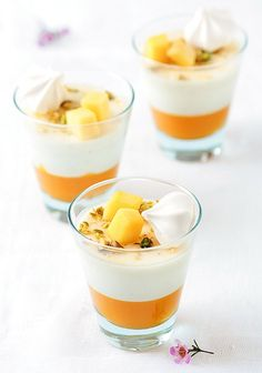 Mango and Vanilla Bean Buttermilk Panna Cotta by tartelette, via Flickr