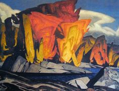 Alfred Joseph Casson, OC (May 1898 – February was a member of the Canadian group of artists known as the Group of Seven. Tom Thomson, Emily Carr, Group Of Seven Artists, Group Of Seven Paintings, Canadian Painters, Canadian Artists, Abstract Landscape, Landscape Paintings, Ontario
