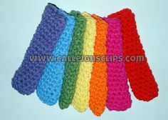 Calleighs Clips & Crochet Creations: Popsicle Snuggy - Free Crochet Pattern