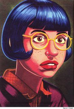 orano: Daniel Clowes - Ghost World - Fantagraphics Books Art Et Illustration, Graphic Design Illustration, Illustrations, Ghost World, Daniel Clowes, Great Works Of Art, Comic Kunst, Bristol Board, Comic Artist