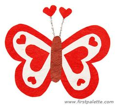 Butterfly heart craft -- perfect for Valentine's Day!