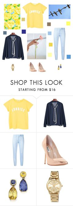 """Sunshine baby"" by pastelpinkprince ❤ liked on Polyvore featuring MANGO, Dondup, Dune and MICHAEL Michael Kors"