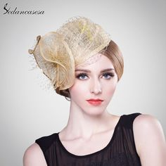 Fashion Flower Bridal Hats Elegant Ladies Hairband For Wedding Party Evening Beautiful Fascinator Hats Oh Yeah #shop #beauty #Woman's fashion #Products #Hat