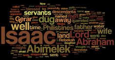 Genesis 26 (NIV) - The Bible in Wordle Form