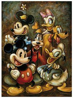 Walt Disney Mickey Mouse & the gang Disney Mickey Mouse, Arte Do Mickey Mouse, Walt Disney, Mickey Mouse Y Amigos, Mickey Mouse And Friends, Disney Pixar, Disney Characters, Minnie Mouse, Mickey Mouse Cartoon