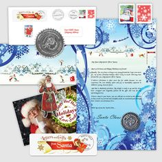Classic Christmas Letter and Scroll from Santa Claus - Send beautiful Santa Letters and Nice List certificates for Christmas - Letters and Gifts from Santa. Christmas Tree Glitter, Baby's First Christmas Gifts, Babys 1st Christmas, Christmas Time, Christmas Letters, Nice List, Santas Workshop, Santa Ornaments, Santa Letter