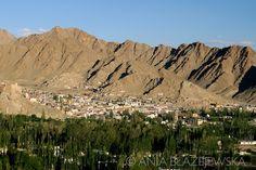 India, Ladakh. Leh - the capital of Ladakh seen from Shanti stupa.  #Leh #Ladakh #India #Travel #photography