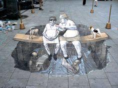 Amazing chalk art by Eduardor Relero.