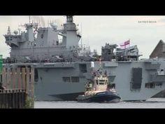 HMS Ocean in London for 2012 Olympics security