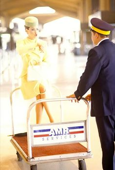 I really wish this were my uniform, and that my pilots carted me around the airport. #flightattendant