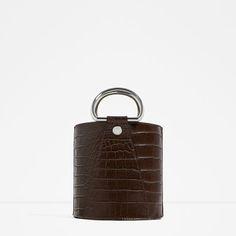 Image 1 of MOCK-CROC MINI BUCKET BAG from Zara
