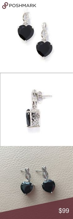 Black Spinel & White Topaz Earrings in SS Black Spinel Earrings with White Topaz set in Sterling silver. The setting is absolutely gorgeous!  These earrings DO NOT come with the post backings. Black Spinel-2 gems (14.55cts) White Topaz-16 gems (0.28cts)  Have the tag for these earrings but it has been cut off.  Check out the other listings in my closet and bundle to save! Offers welcome 🌸 Jewelry Earrings