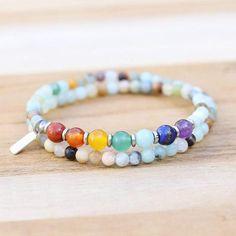 Throat Chakra Amazonite Wrap Bracelet Chakra Jewelry, Gemstone Jewelry, Improve Confidence, Throat Chakra, Chakra Stones, Jewelry Collection, Jewelry Making, Beaded Bracelets, Gemstones