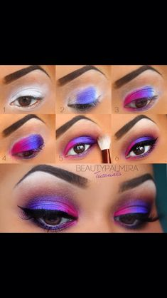 If you would like enhance your eyes and also increase your good looks, finding the best eye make-up tips and hints will help. You need to make sure you wear make-up that makes you start looking even more beautiful than you are already. 80s Eye Makeup, Pretty Eye Makeup, Eye Makeup Steps, Colorful Eye Makeup, Love Makeup, Makeup Inspo, Eyeshadow Makeup, Makeup Tips, Makeup Looks