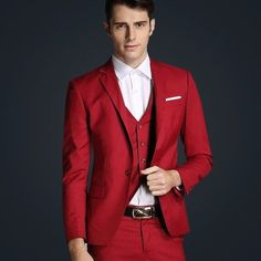 Suits Set 3 Pcs Blazer+Vest+Pants