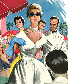 1952 illustration by Aubrey Rix by totallymystified, via Flickr