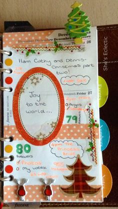She's Eclectic: My week in my Filofax #52 and happy New Year! - close up