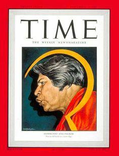 Ana Pauker in Time Magazine. 20 September,1948. Cover Credit: Ernst Hamlin Baker