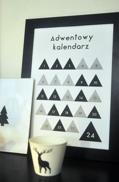 Mój kalendarz adwentowy, advent calendar, free printable ~ my moments in home