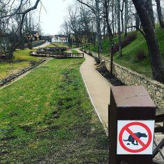 #latvija #latvia #kuldiga #spring #park #warning #sign #dog