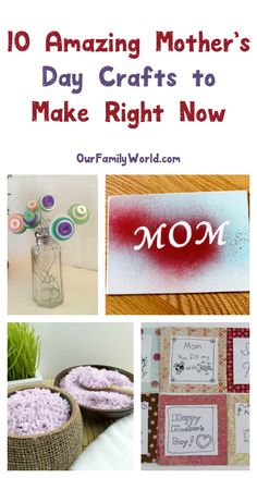 Let kids make a meaningful gift that mom will treasure forever with these five easy Mother's Day crafts! Check them out and make them right now!
