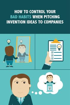 Do you get nervous when the spotlight is on you? Here are tips to help control your bad habits when pitching invention ideas to companies in the industry. Check out the rest of our blog via inventhelp.com. #businesstip