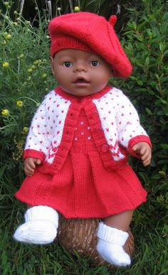 Morgan PDF Knitting Pattern for Doll Clothes by MissMeggyDesigns