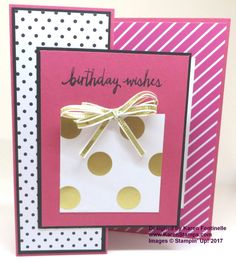 Z Fold Pop of Pink Birthday Card - easy to make, directions on my blog post!   https://www.stampinup.com/ecweb/ProductDetails.aspx?productID=141648&dbwsdemoid=54345