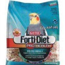 Kaytee Forti Diet Pro Health Food with Safflower for Cockatiels, 5-Pound