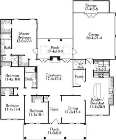 1000 images about house plans on pinterest u shaped for Rectangle shaped house plans
