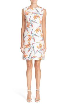 Bird of Paradise Print Quilted Dress