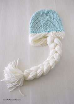 Frozen - Elsa Crochet Hat ~ free pattern - also with Anna instruction - sizes Toddler, Child and Adult