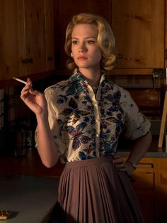 Betty Draper from Mad Men. Her character has the best clothes.