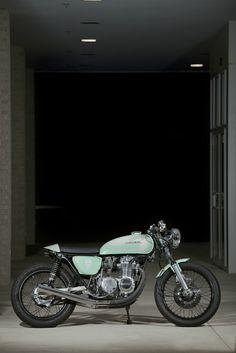 Honda CB550 cafe racer - I definitely am into the cafe racer style. Slammed of course.