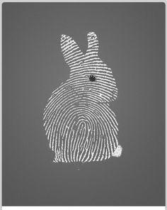 Bunny line fingerprint art