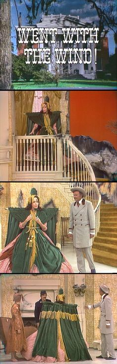 "Saturday, Nov. 13, 1976, CBS — The Carol Burnett Show ""Went with the Wind"" — The drapes dress, designed by Bob Mackie, is now on display at the Smithsonian Institution."