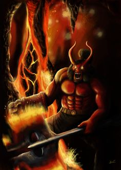 Axe(Dota2)/Hellboy hybrid.....why?...don't ask pls it's very cheesy answer T_T