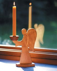 Angel candle holder made by Camphill villagers with disabilities.
