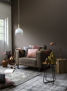 Combination of grey and taupe living room Brown Living Room Decor, Warm Living Room Colors, Living Room Warm, Home Decor, Taupe Walls Living Room, Interior Design Living Room, Brown Walls Living Room, Brown Living Room, Living Decor