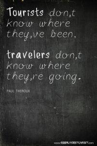 Turistas vs. Viajeros